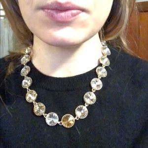 Gold, Clear and Yellow Diamond Necklace